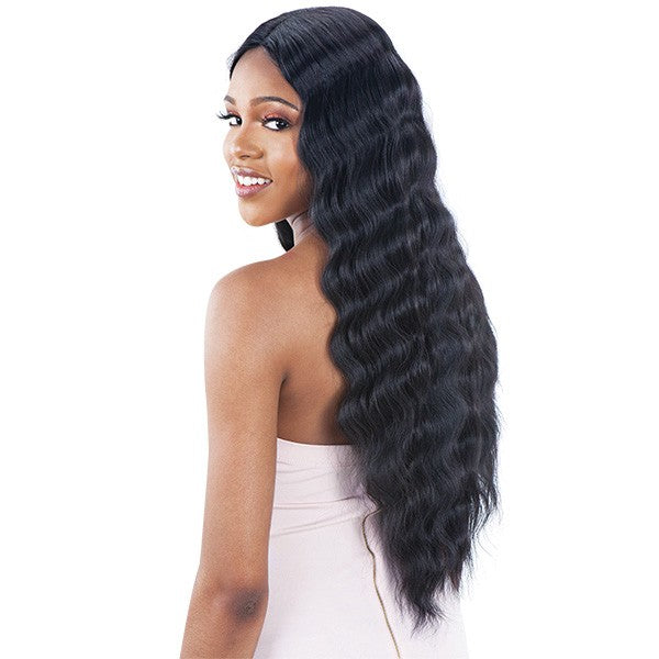 Model Model Lace to Lace Synthetic Hair Lace Front Wig TRIPLE BARREL CURL 020