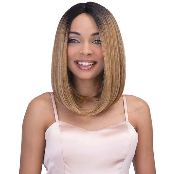 Janet Collection Natural Super Flow Deep Part Lace Front Wig SUNNY