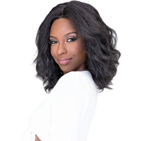 Janet Collection HHair Blend Natural Me Deep Part Swiss Lace Front Wig JODE