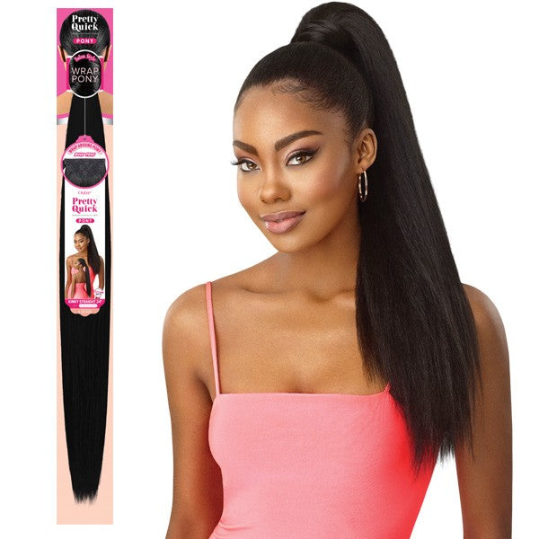 Outre Synthetic Pretty Quick Wrap Pony KINKY STRAIGHT 24""