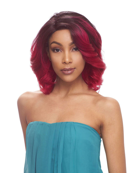 Janet Collection Human Hair Blend Lace Front Wig Brazilian Scent LAUREN