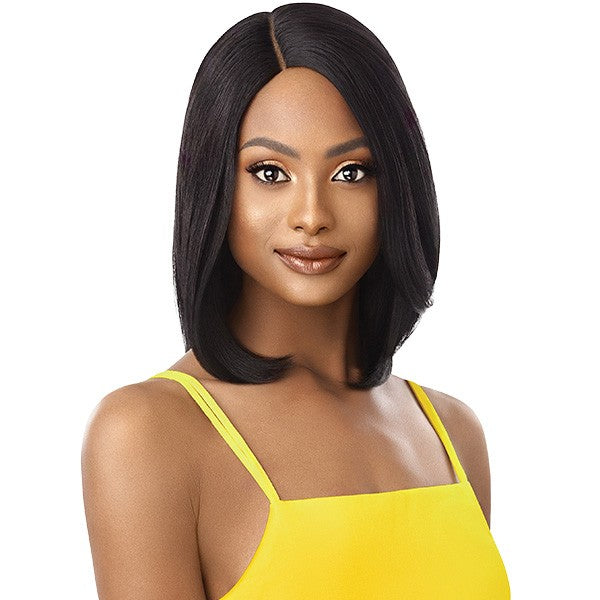 Outre Unprocessed Human Hair Lace Part Daily Wig LAYER BOB 16""