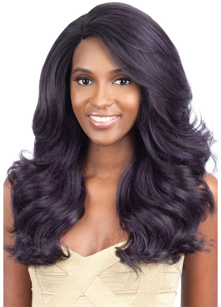 Model Model Deep Invisible L-Part Lace Front Wig BLUE MEADOW