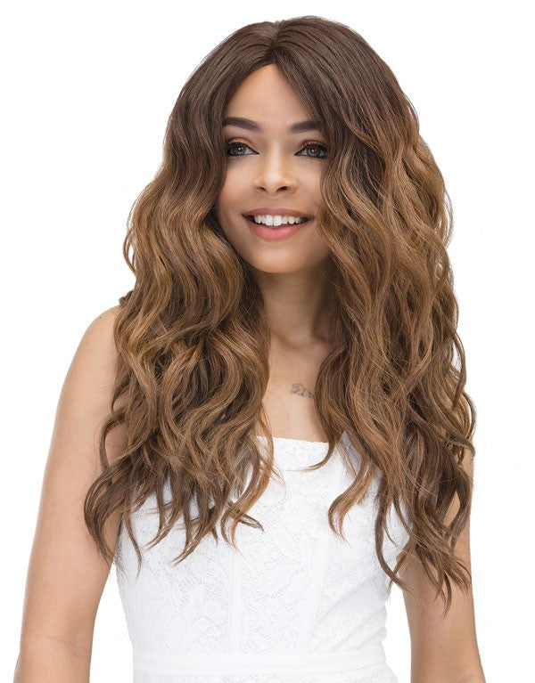 Janet Collection Natural Super Flow Deep Part Lace Front Wig MOON