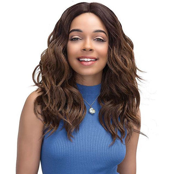 Janet Collection Natural Super Flow Deep Part Lace Front Wig MOON LITE