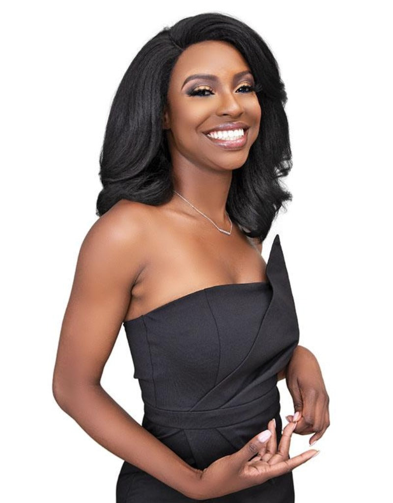 Janet Collection Natural Me Blowout Synthetic Hair HD Lace Wig DEEDRA