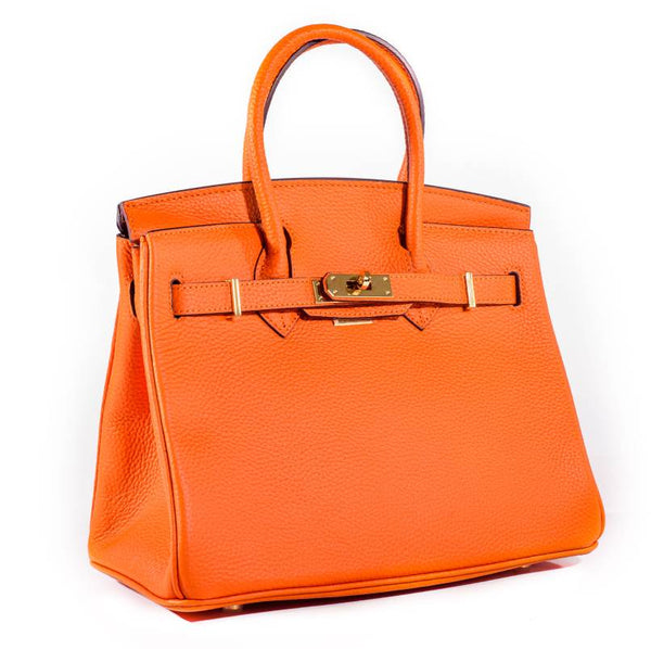 100% Real Leather Ladies Orange bag