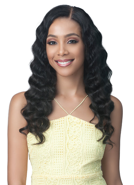 Bobbi Boss Virgin Remy Human Hair 13x4 Lace Front Wig MHLF509 OCEAN WAVE 24
