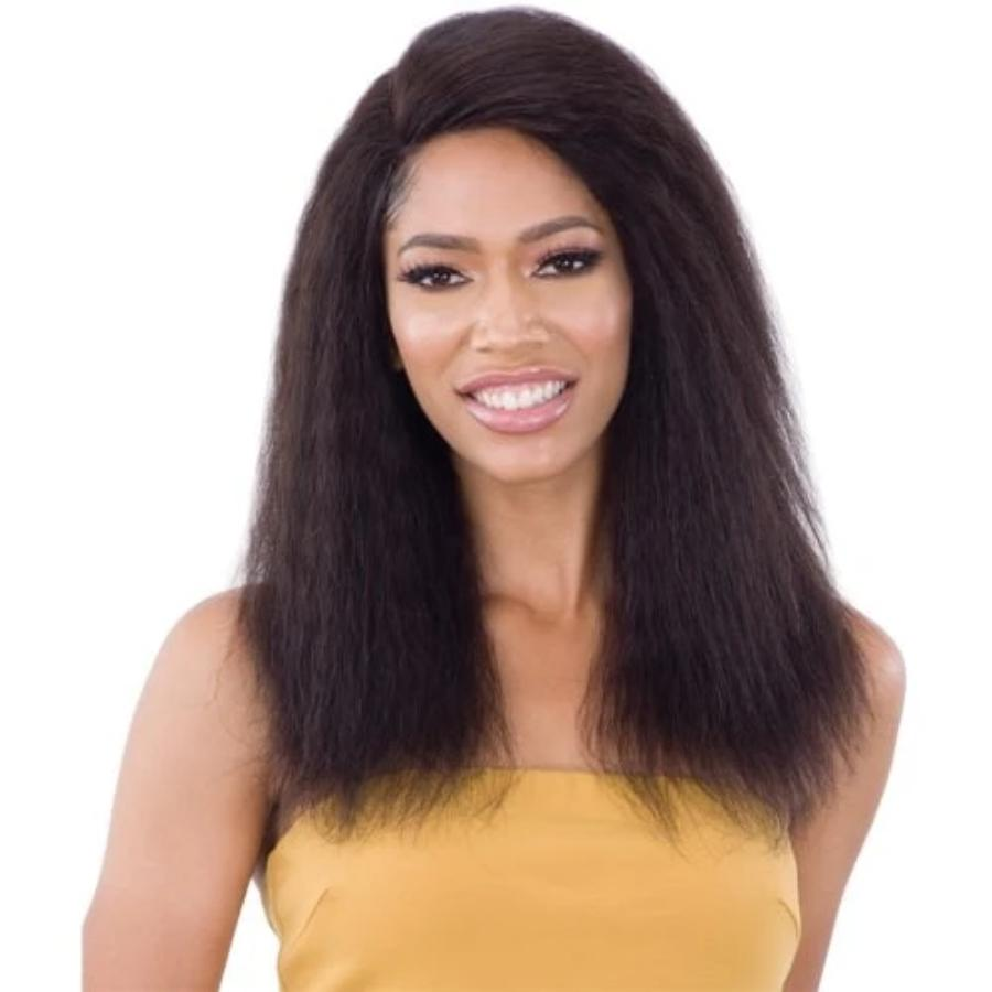 "Shake N Go Naked Brazilian Human Hair  Front Lace 5""Part Wig RIHANNI"
