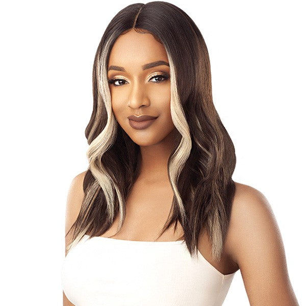 Outre Synthetic I Parting Swiss Lace Front Wig SHATAYA