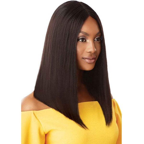 Outre 100% Unprocessed Human Hair Lace Part Daily Wig STRAIGHT BLUNT CUT BOB 16""