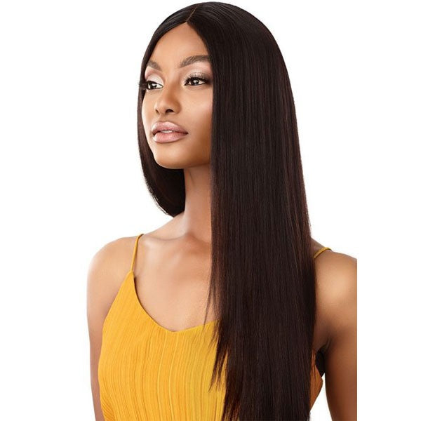 Outre 100% Unprocessed Human Hair Lace Part Daily Wig STRAIGHT V CUT 26""