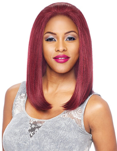 "Vanessa Honey-5 Brazilian HH Blend 5"" x 5"" Swissilk Lace Front Wig T5XL BISS"