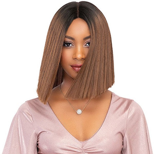 Janet Collection Premium Fiber Extended Part Swiss Lace Front Wig TEAH (discount applied)