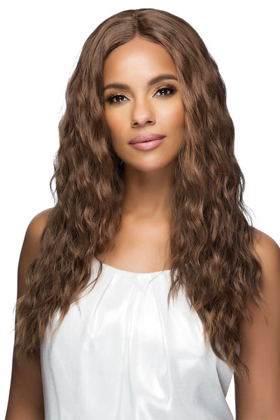 Vivica A Fox Synthetic Swiss HD Lace Wig TESSA Invisible Center Part