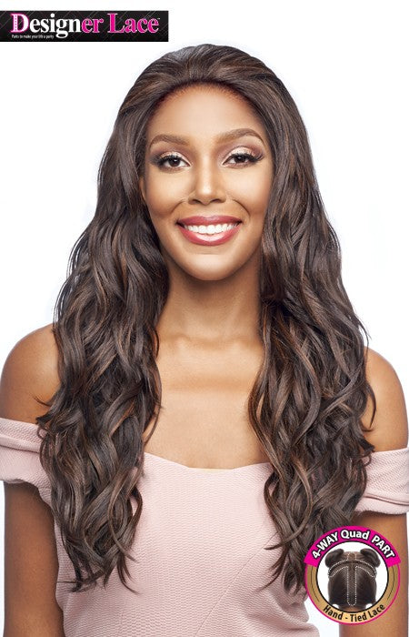 Vanessa Human Hair Blend Designer Lace Front Wig TQHB MONICA