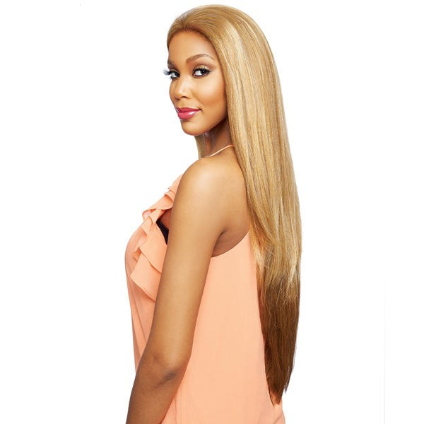 Vanessa Honey Brazilian Human Hair Blend Tops Swissilk Lace Front Wig THB TRADIE 35