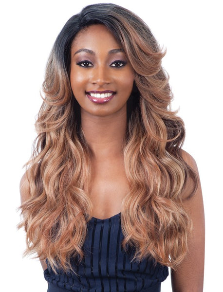 "Freetress Equal Lace & Lace 6"" Part Lace Front Wig MAISHA"