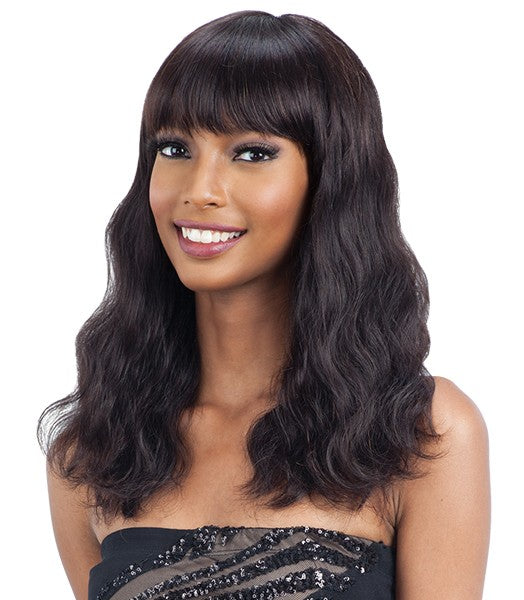 Shake-N-Go Naked Brazilian Natural Unprocessed Human Hair Human Wig S-WAVE (Medium)