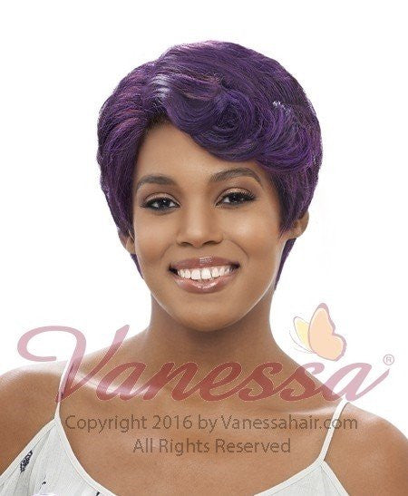 Vanessa Super C Side Lace Part Wig SPUNK