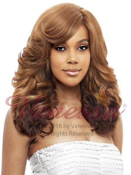 Vanessa Honey C Brazilian Human Hair Blend Lace Front Wig TRCHB KELIOS