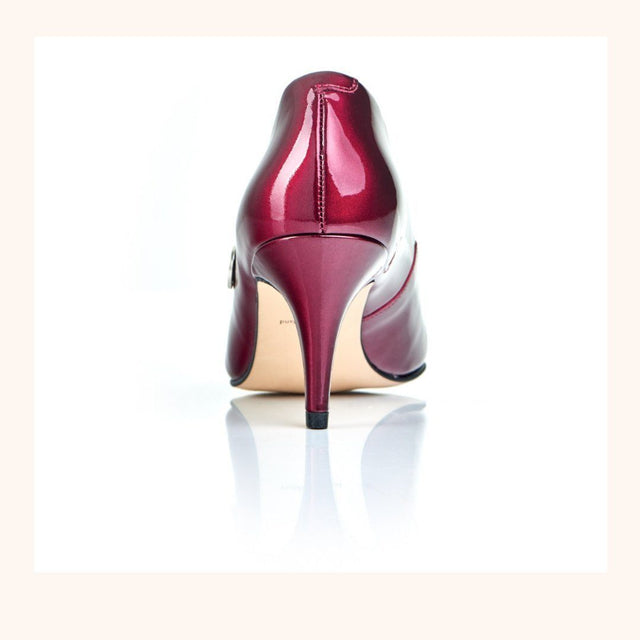 Red Patent Leather Heel