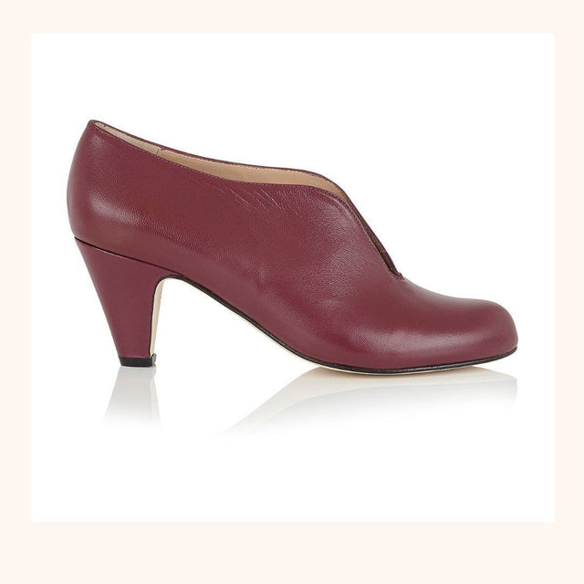 Plum Leather Shoe Boots