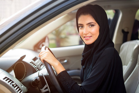 Arab Woman Driving in Saudi Arabia