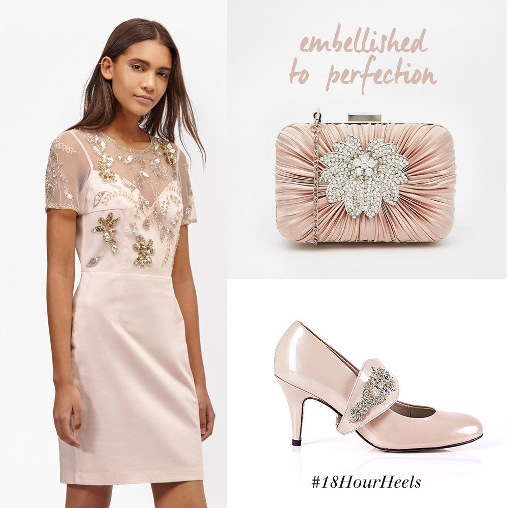 Embellished Dress And Jewelled Shoes