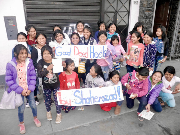 Shoes by Shaherazad helping Peruvian girls in poverty