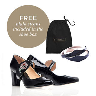 Free plain leather straps included