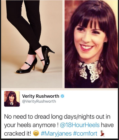 Verity Rushworth fashion tweet