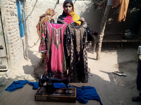 Pakistani Girl with Clothes