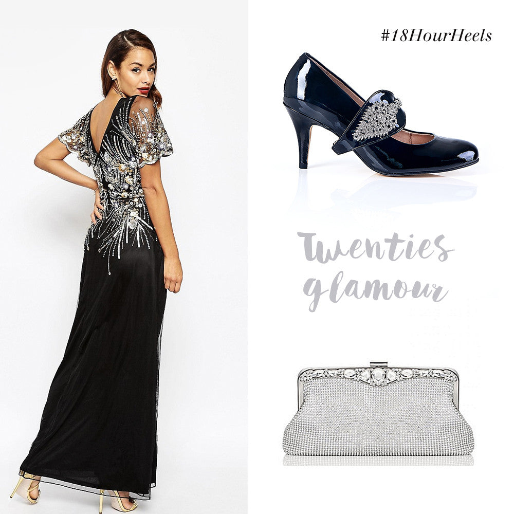Twenties Glamour Embellished Dress