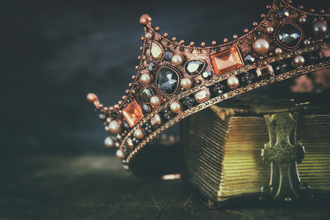 Vintage Crown and Book