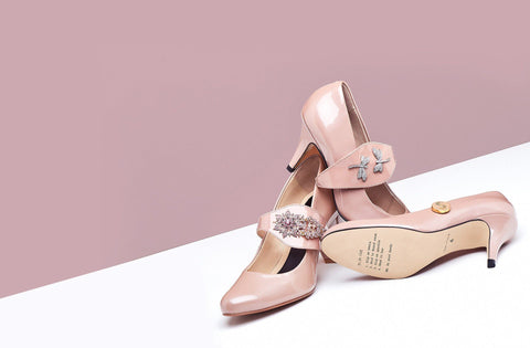 Shoes by Shaherazad blush pink heels