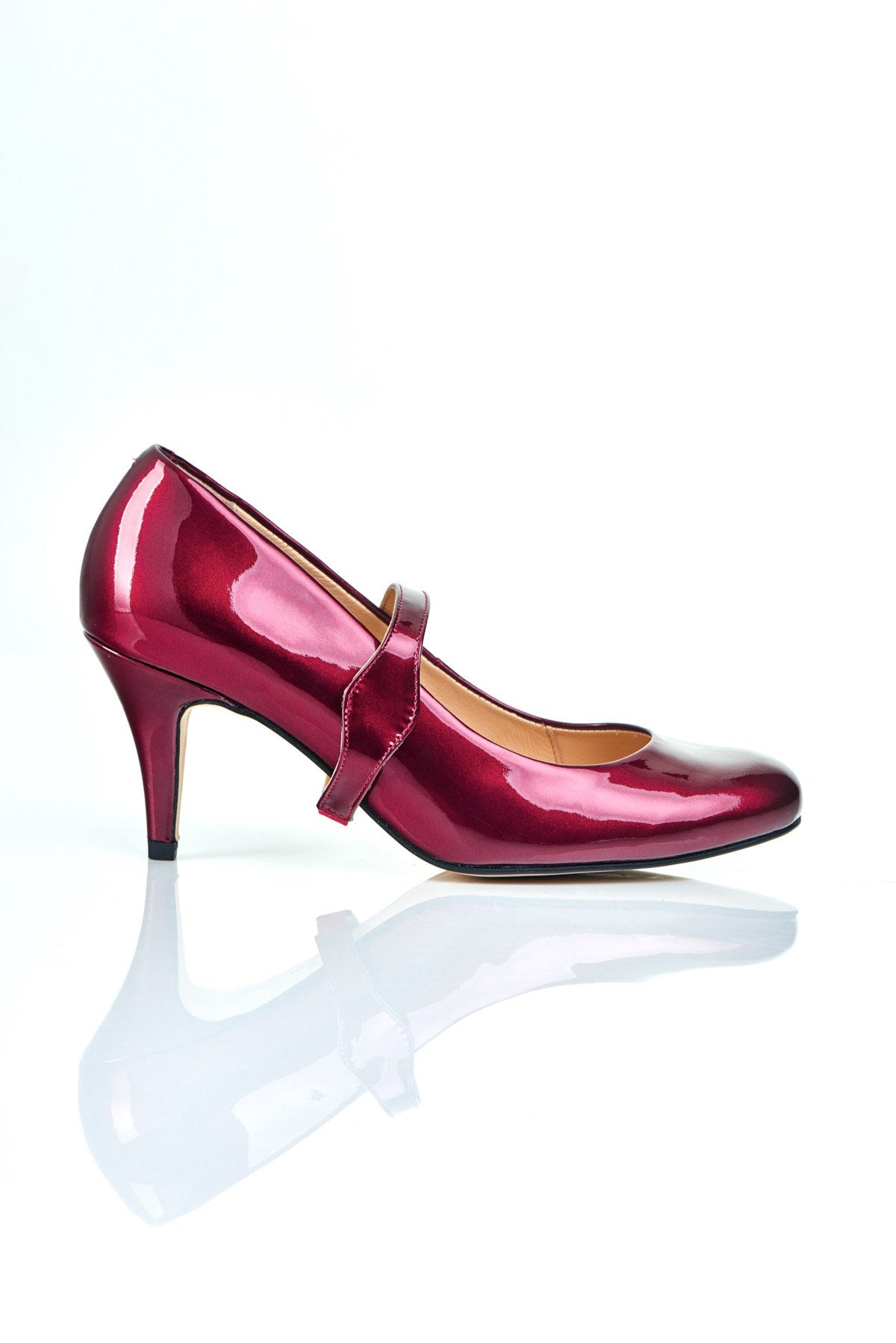 Take My Lead - 18 Hour Heels - Mulberry Leather - Shoes by Shaherazad