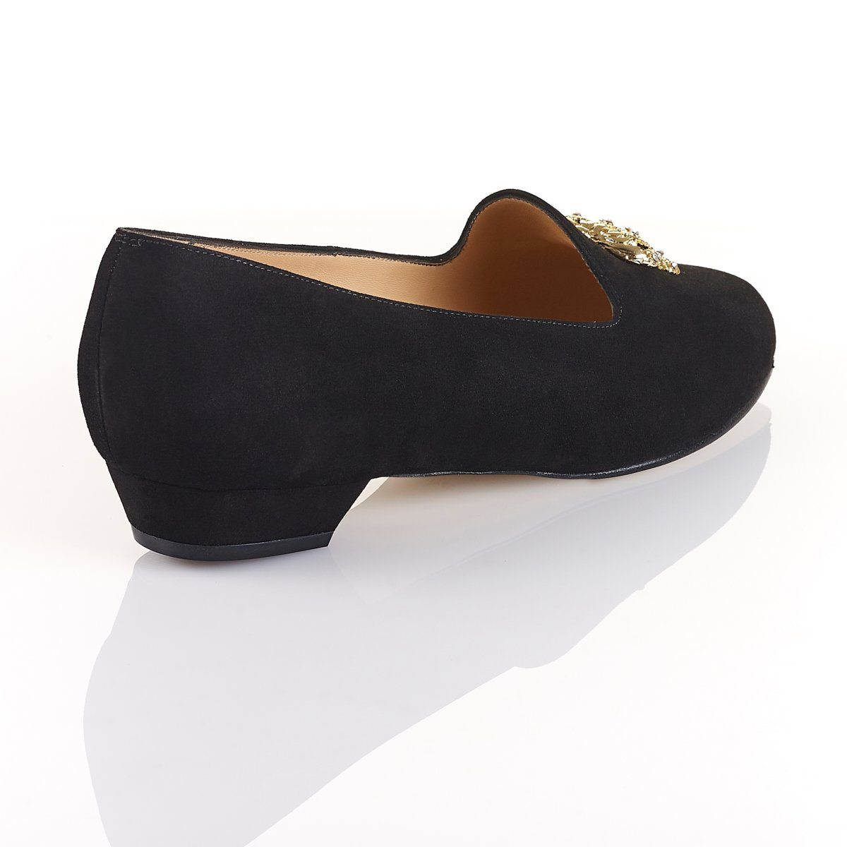 She Reigns - Luxury Flat Black Shoes - Shoes by Shaherazad