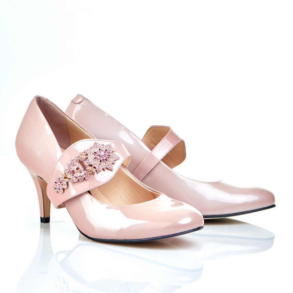 aefb601c2325 Equally Ever After in Pink Gems - 18 Hour Heels - Blush Leather