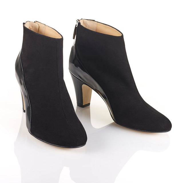 She.E.O - Luxury Black Ankle Boots - Shoes by Shaherazad