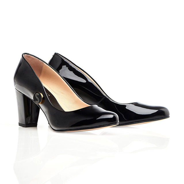 Stand Tall Sister - Black Block Heel - Shoes by Shaherazad