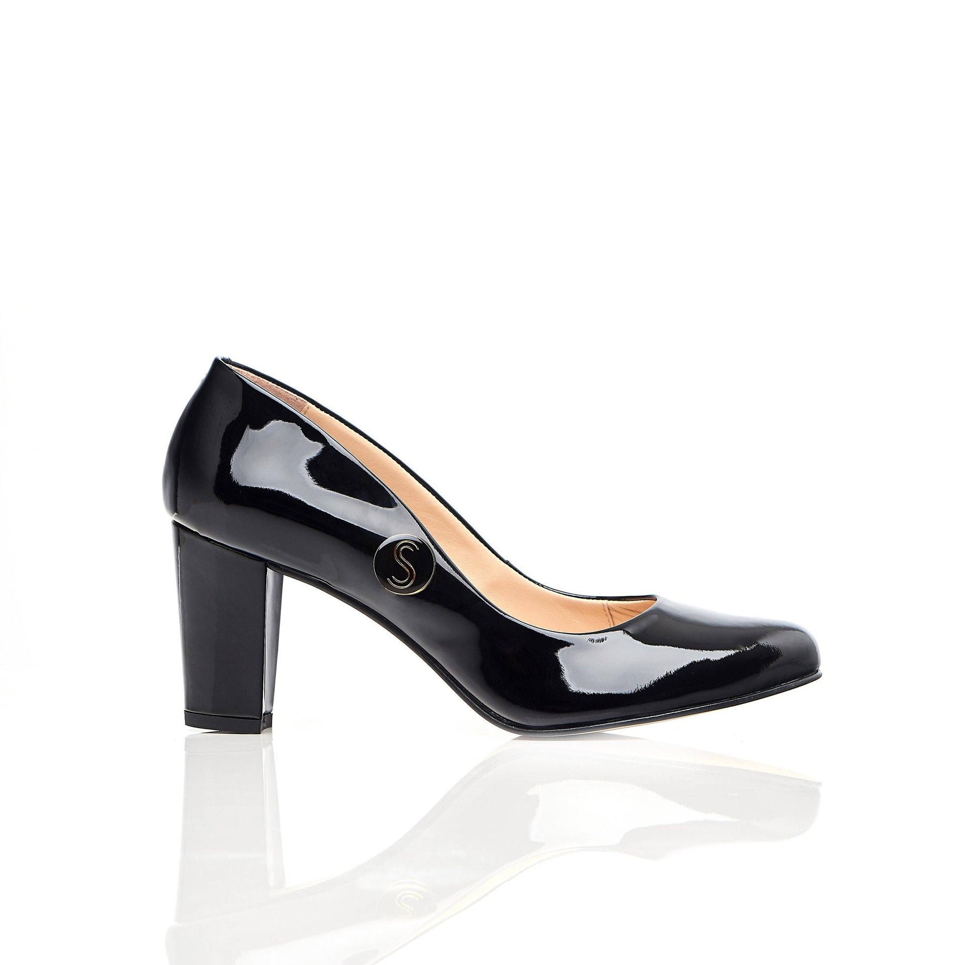 Stand Tall Sister - Block Heels - Black Leather - Shoes by Shaherazad
