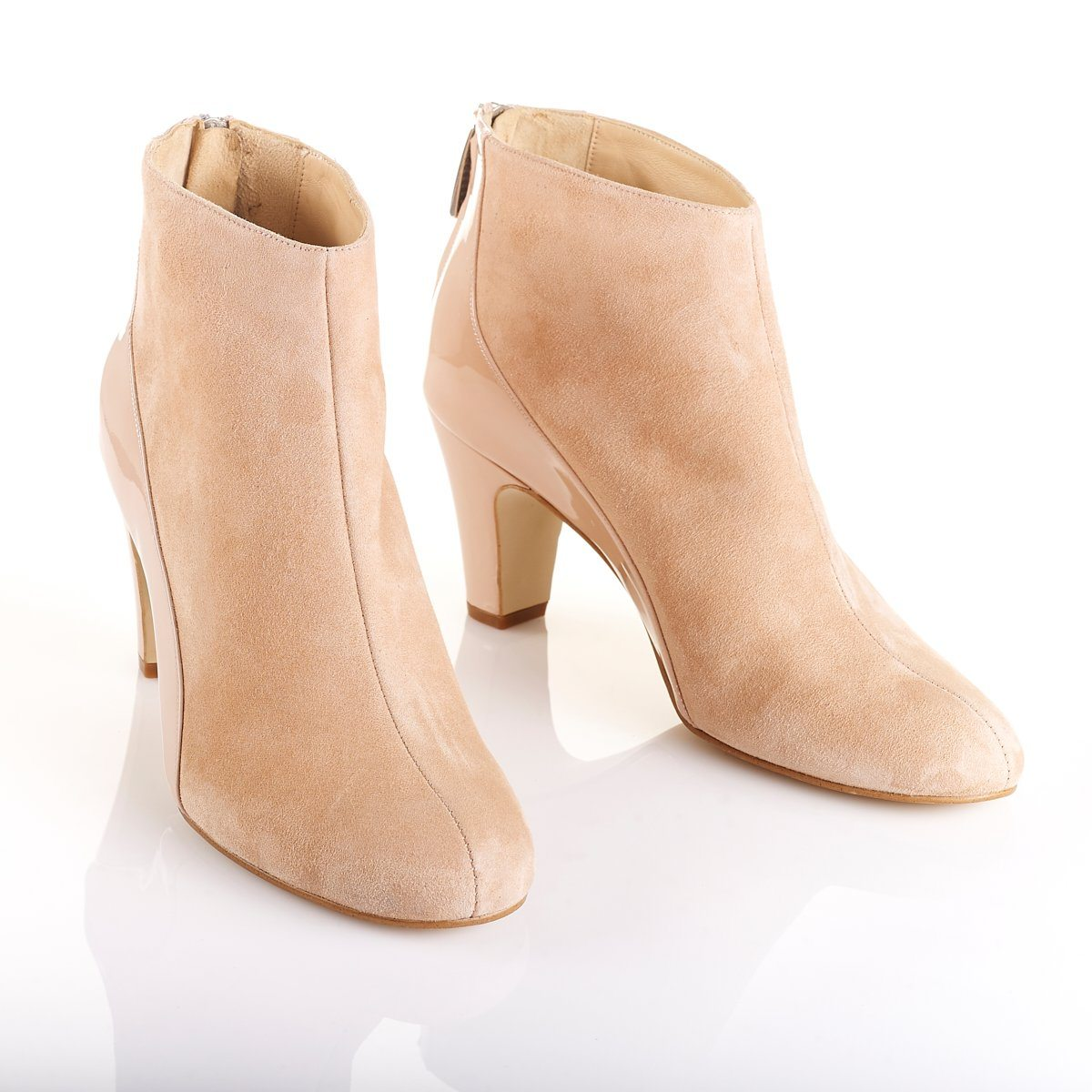 She.E.O - Luxury Blush Ankle Boots - Shoes by Shaherazad