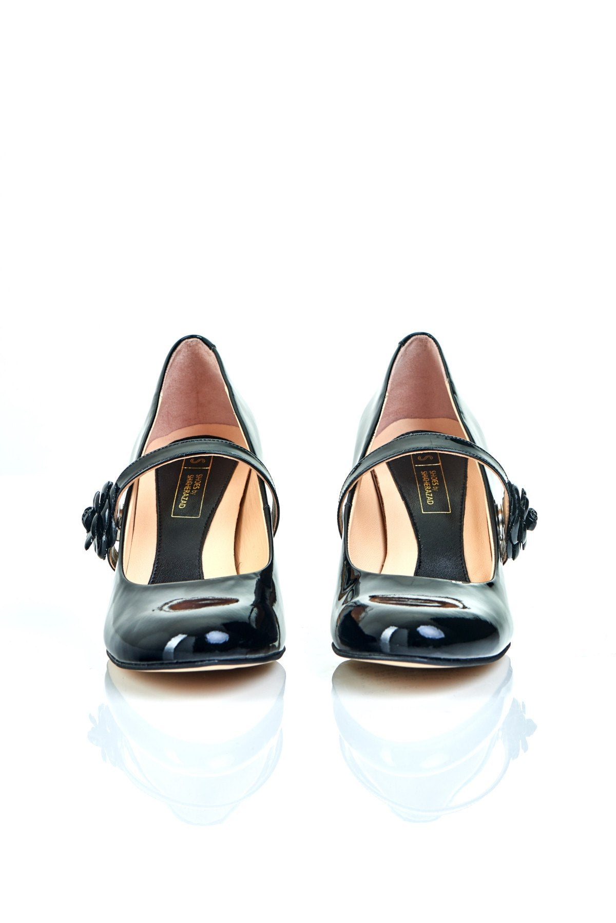 Don't Wait Up - 18 Hour Heels - Black Leather - Shoes by Shaherazad