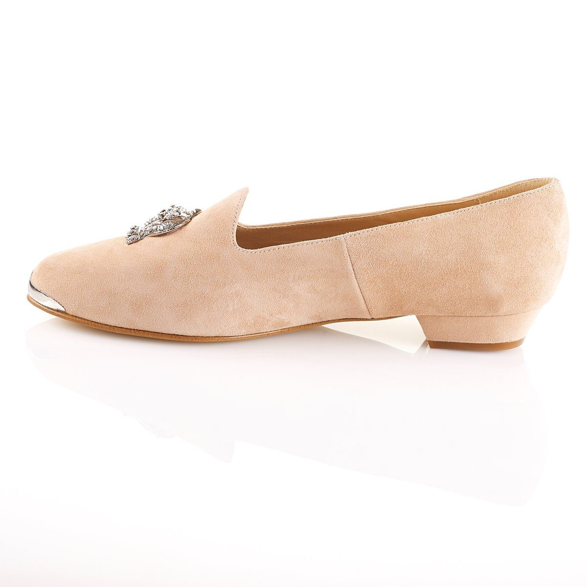 She Reigns - Luxury Flat Blush Shoes - Shoes by Shaherazad