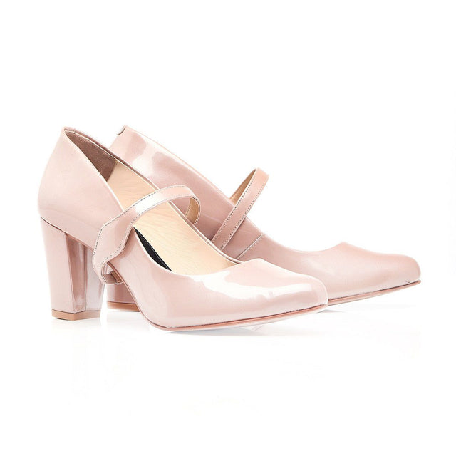 Take My Lead - Block Heel In Blush - Shoes by Shaherazad