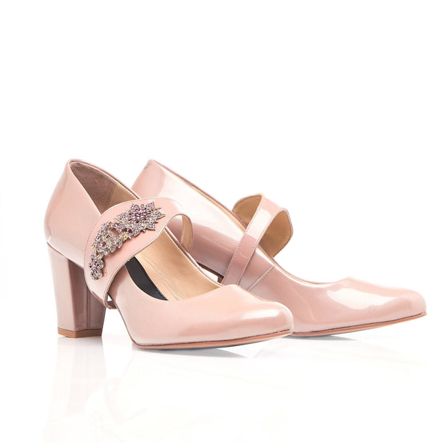 Equally Ever After in Blush - Block Heel - Shoes by Shaherazad