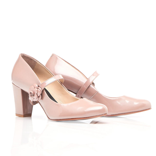 Don't Wait Up - Block Heel In Blush - Shoes by Shaherazad