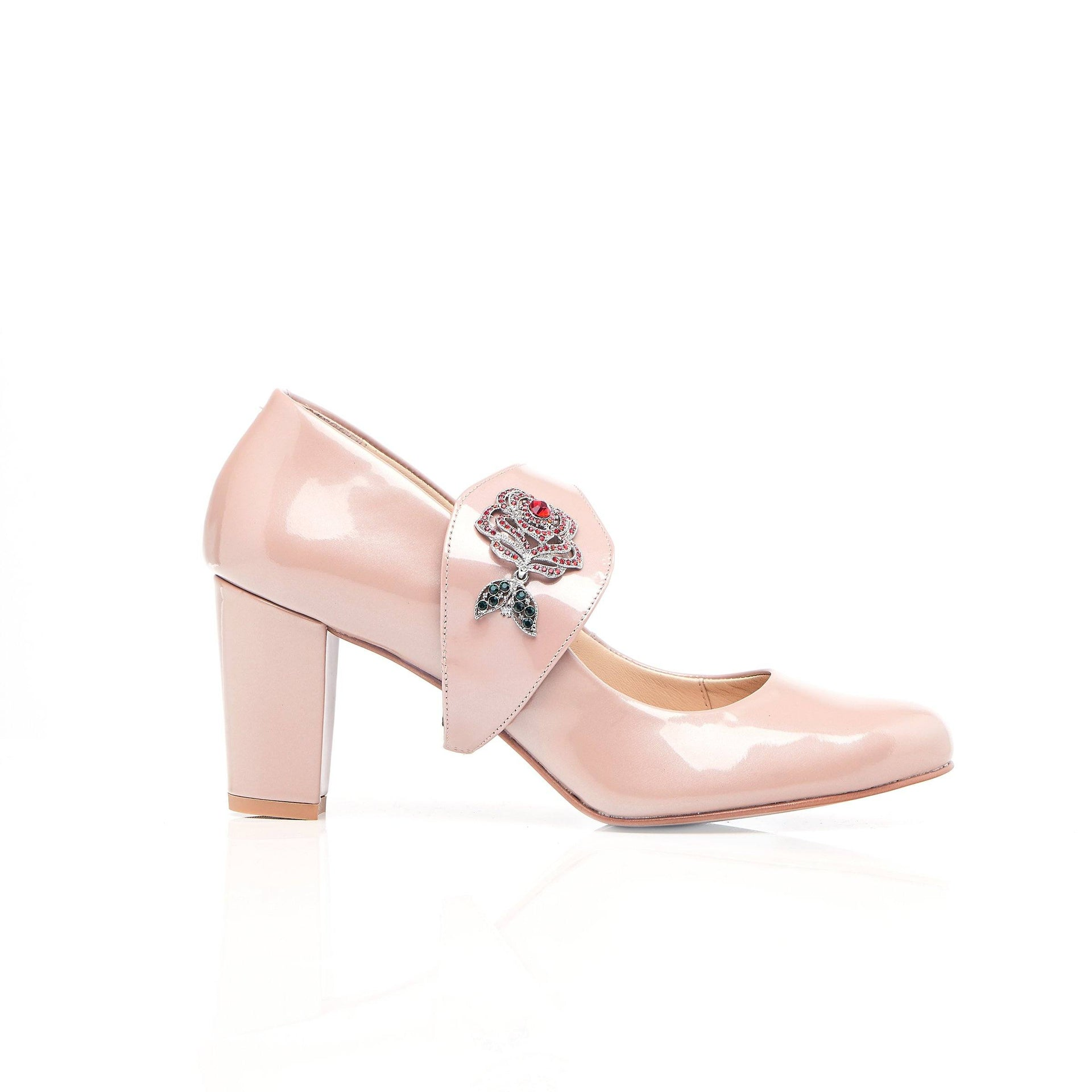Time To Bloom - Blush Block Heel