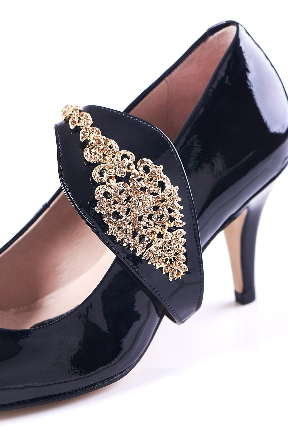 Dream Then Do in Gold - Shoellery - Shoes by Shaherazad